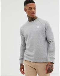 Sweatshirt With Small Logo In Grey Gray
