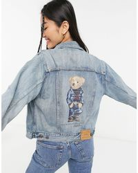 Polo Ralph Lauren Bear Logo Denim Jacket - Blue