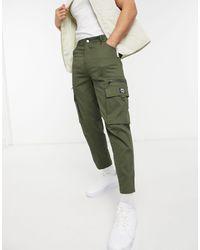 Wesc Pantalones tapered utilitarios - Verde