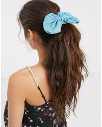 ASOS Élastique à cheveux avec nœud - scintillant - Bleu