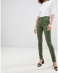 Ichi - High Waisted 80's Jeans - Lyst