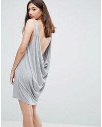 Pieces - Gilia Low Back Vest Dress - Lyst