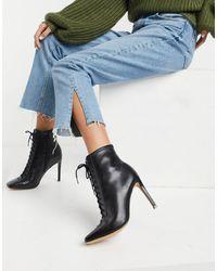 ALDO Черные Кожаные Ботинки На Шнуровке И Каблуке-шпильке Cyril-черный