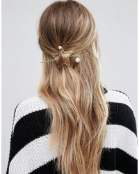 Glamorous - Minimal Star Through Hair Pin - Lyst