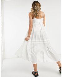 ASOS Vestido veraniego midi blanco