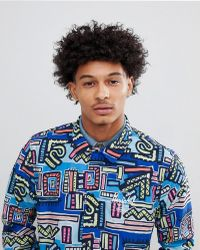 Herschel Supply Co. - Hoffman Collab Packable Coach Jacket With Back Print In Blue Abstract Print - Lyst