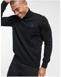 Polo Ralph Lauren – er Rollkragenpullover aus Merinowolle mit Polospieler-Logo - Schwarz