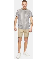TOPMAN Skinny Chino Shorts - Natural