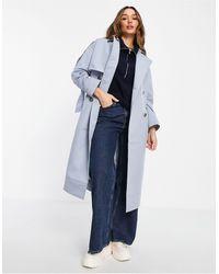 Palones Oversized Trench Coat - Blue
