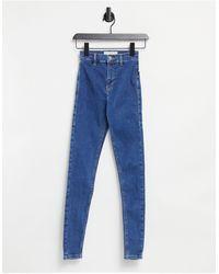 TOPSHOP Joni - Skinny Jeans - Blauw