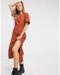 New Look Spot Split Side Midi Dress - Multicolour