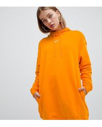 Nike Exclusive To Asos Orange Longline Hoodie
