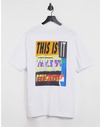 SELECTED Oversized-футболка С Круглым Вырезом Barclay-белый