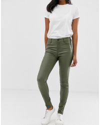 Vila - Coated Jeans - Lyst