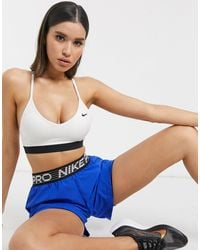 Nike Белый Бюстгальтер