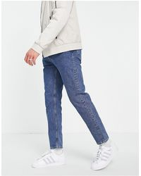 Weekday – Barrel – Jeans Standardblau