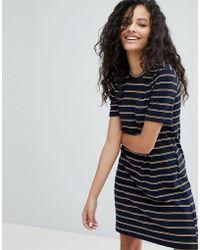 Bershka   Short Sleeve Stripe Mini Dress   Lyst