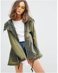 HUNTER Womens Original Raincoat - Green