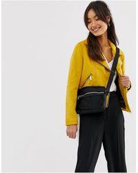 New Look Suedette Biker Jacket - Yellow
