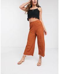 ASOS Textured Culotte Trouser - Orange