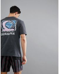 Quiksilver - Durable Dens T-shirt With Back Print In Black - Lyst