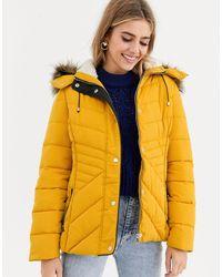 New Look Приталенная Дутая Куртка Желтого Цвета -желтый
