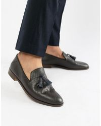 House Of Hounds - Osprey Tassel Loafers In Brown Croc - Lyst
