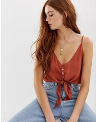 Free People Two Tie For You Cropped Cami - Red