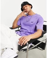 Pull&Bear Join Life Co-ord Sweat T-shirt - Purple