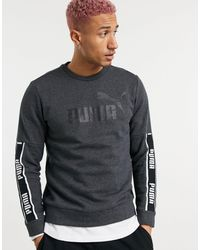 PUMA – Verstärktes Fleece-Sweatshirt - Grau