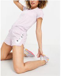 Nike - Сиреневые Шорты С Логотипом-галочкой -фиолетовый Цвет - Lyst