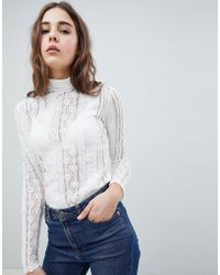 Minimum - Moves By Printed Sheer Top - Lyst