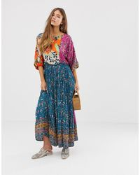 Free People Платье Макси What You Want-мульти - Многоцветный