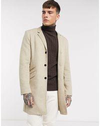Only & Sons – Eleganter Jersey-Mantel - Natur