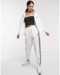 adidas Originals Белые Спортивные Брюки Adicolor-белый - Многоцветный