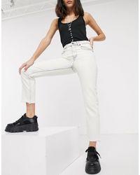 Cheap Monday Revive Bootcut Jeans - White