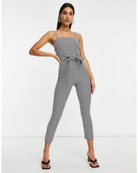 ASOS - Strappy Belted Jumpsuit - Lyst
