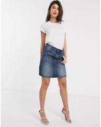 G-Star RAW 3301 Denim Mini Skirt - Blue