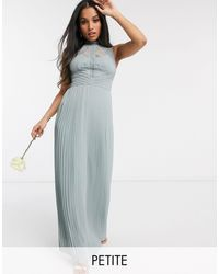 TFNC London - Шалфейно-зеленое Платье Макси Bridesmaid-зеленый - Lyst