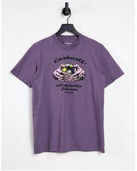 Carhartt WIP - Fortune - T-shirt con stampa viola - Lyst