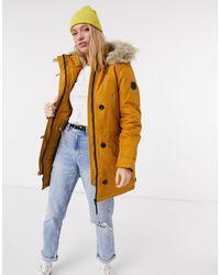 Vero Moda Parka With Faux Fur Hood - Brown