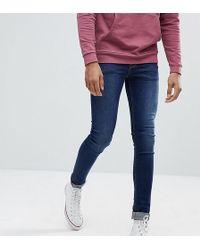 ASOS DESIGN - Asos Tall Extreme Super Skinny Jeans In Dark Wash - Lyst