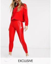 PUMA Hoogglanzende legging - Rood