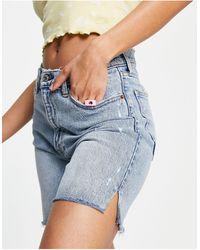 Abercrombie & Fitch Long Line Shorts - Blue