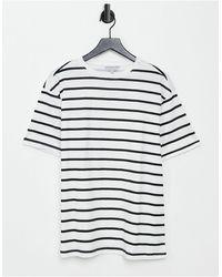 Another Influence Свободная Oversized-футболка В Морскую Полоску -многоцветный