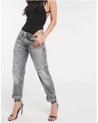 G-Star RAW Boyfriend jeans nero sbiadito