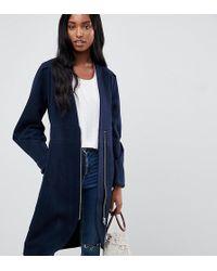 Y.A.S - Zip Front Collarless Coat - Lyst