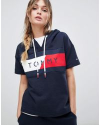 Tommy Hilfiger - Flag Logo Short Sleeve Sweat - Lyst