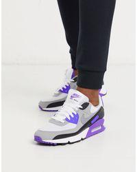 Nike Бело-фиолетовые Кроссовки Air Max 90 Recraft-белый - Многоцветный