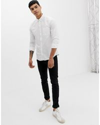 Only & Sons Slim-fit Oxford Overhemd - Wit